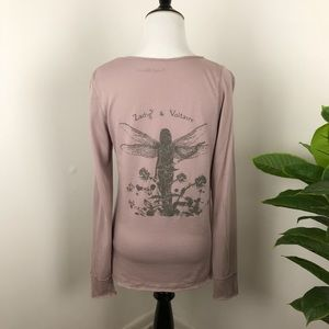 Zadig and Voltaire fairy graphic tee long sleeve